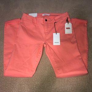 Cello Bright Coral Orange Pants!
